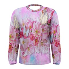 Nice Nature Flowers Plant Ornament Men s Long Sleeve Tee