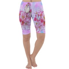 Nice Nature Flowers Plant Ornament Cropped Leggings