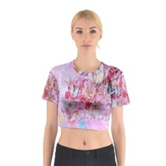 Nice Nature Flowers Plant Ornament Cotton Crop Top