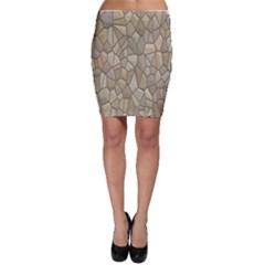 Tile Steinplatte Texture Bodycon Skirt