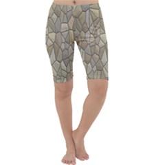 Tile Steinplatte Texture Cropped Leggings