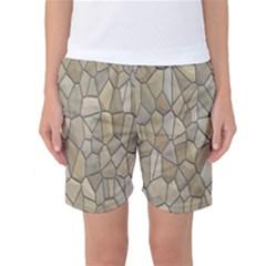 Tile Steinplatte Texture Women s Basketball Shorts