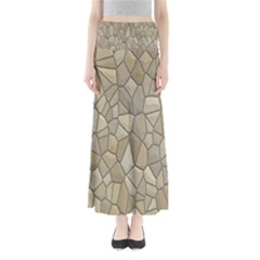 Tile Steinplatte Texture Full Length Maxi Skirt