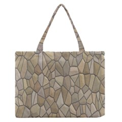 Tile Steinplatte Texture Zipper Medium Tote Bag