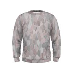 Pattern Mosaic Form Geometric Kids  Sweatshirt