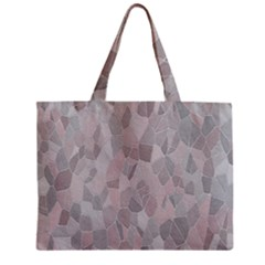 Pattern Mosaic Form Geometric Zipper Mini Tote Bag