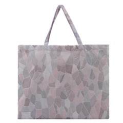 Pattern Mosaic Form Geometric Zipper Large Tote Bag