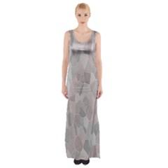 Pattern Mosaic Form Geometric Maxi Thigh Split Dress