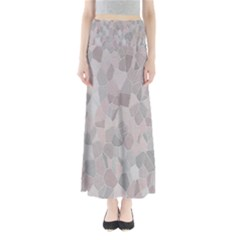 Pattern Mosaic Form Geometric Full Length Maxi Skirt