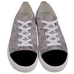 Pattern Mosaic Form Geometric Women s Low Top Canvas Sneakers