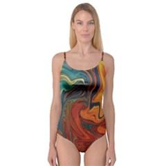 Creativity Abstract Art Camisole Leotard