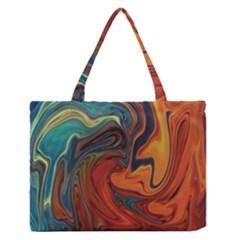 Creativity Abstract Art Zipper Medium Tote Bag