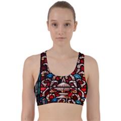 Decoration Art Pattern Ornate Back Weave Sports Bra