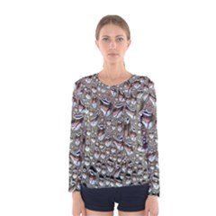 Droplets Pane Drops Of Water Women s Long Sleeve Tee