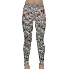 Droplets Pane Drops Of Water Classic Yoga Leggings