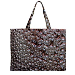 Droplets Pane Drops Of Water Zipper Mini Tote Bag