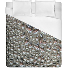 Droplets Pane Drops Of Water Duvet Cover (california King Size) by Nexatart