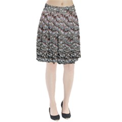 Droplets Pane Drops Of Water Pleated Skirt
