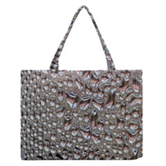 Droplets Pane Drops Of Water Zipper Medium Tote Bag