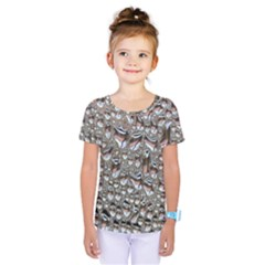 Droplets Pane Drops Of Water Kids  One Piece Tee