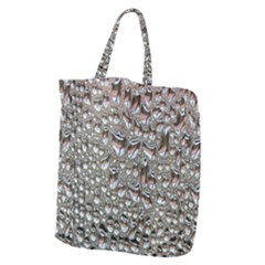 Droplets Pane Drops Of Water Giant Grocery Zipper Tote by Nexatart