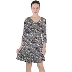 Droplets Pane Drops Of Water Ruffle Dress
