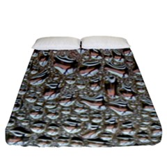 Droplets Pane Drops Of Water Fitted Sheet (king Size)