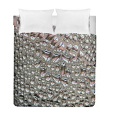 Droplets Pane Drops Of Water Duvet Cover Double Side (full/ Double Size) by Nexatart