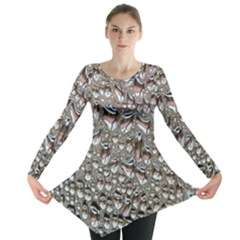 Droplets Pane Drops Of Water Long Sleeve Tunic