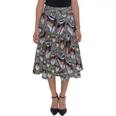 Droplets Pane Drops Of Water Perfect Length Midi Skirt