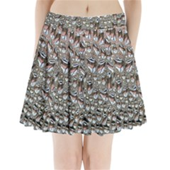Droplets Pane Drops Of Water Pleated Mini Skirt