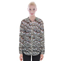 Droplets Pane Drops Of Water Womens Long Sleeve Shirt