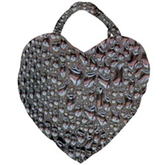 Droplets Pane Drops Of Water Giant Heart Shaped Tote