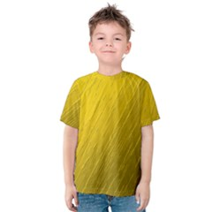 Golden Texture Rough Canvas Golden Kids  Cotton Tee