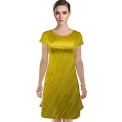 Golden Texture Rough Canvas Golden Cap Sleeve Nightdress