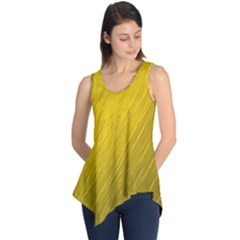 Golden Texture Rough Canvas Golden Sleeveless Tunic