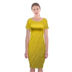 Golden Texture Rough Canvas Golden Classic Short Sleeve Midi Dress
