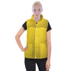 Golden Texture Rough Canvas Golden Women s Button Up Puffer Vest