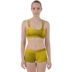 Golden Texture Rough Canvas Golden Women s Sports Set