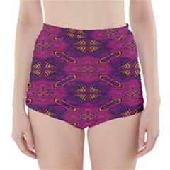 Pattern Decoration Art Abstract High Waisted Bikini Bottoms
