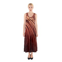 Abstract Fractal Digital Art Sleeveless Maxi Dress