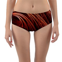 Abstract Fractal Digital Art Reversible Mid Waist Bikini Bottoms