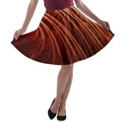 Abstract Fractal Digital Art A Line Skater Skirt
