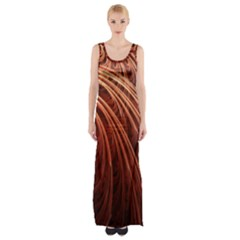 Abstract Fractal Digital Art Maxi Thigh Split Dress