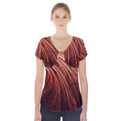 Abstract Fractal Digital Art Short Sleeve Front Detail Top