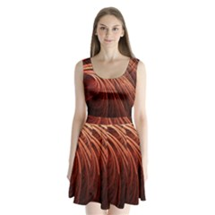 Abstract Fractal Digital Art Split Back Mini Dress