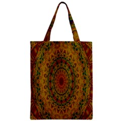 India Mystic Background Ornamental Zipper Classic Tote Bag