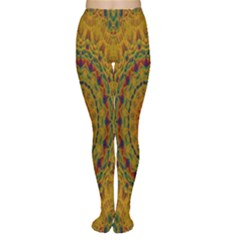 India Mystic Background Ornamental Women s Tights