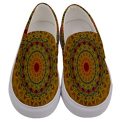 India Mystic Background Ornamental Men s Canvas Slip Ons
