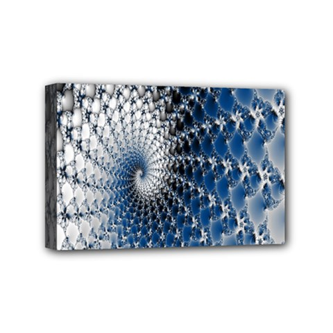 Mandelbrot Fractal Abstract Ice Mini Canvas 6  X 4